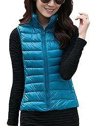 7d00fd2b3 Amazon.co.uk  Blue - Gilets   Coats   Jackets  Clothing