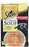 Sheba Soupes aux Filets de Poulet pour Chat 4 x 40 g - Set de 12 (48 Sachets Fraîcheur)