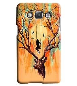 Blue Throat Deer Printed Designer Back Cover/Case For Samsung Galaxy A7