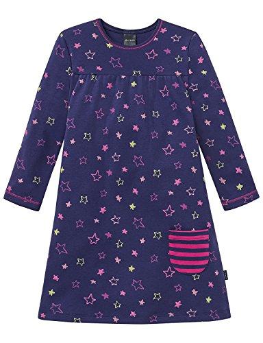 Schiesser Mädchen Nachthemd 1/1, Blau (Dunkelblau 803), 116