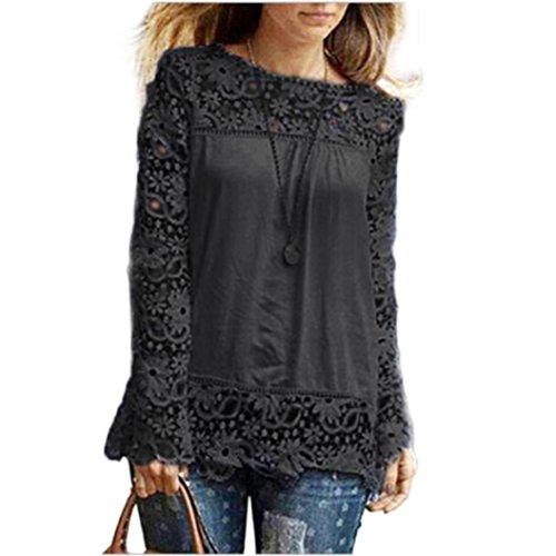 ESAILQ Damen Rundhals Kurzarm T-Shirt Tops mit Allover Anker Print Frauen Casual Druck...