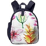 Kinderrucksack Tropische Sommerpflanzen, Schulrucksack für Mädchen und Jungen Schultasche Schulranzen Teenager Backpack Daypack Freizeitrucksack Kinder Rucksack