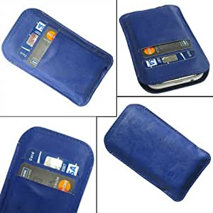 i-KitPit Quality PU Leather Pouch Case Cover For Videocon A31 (BLUE)