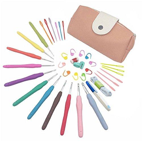 Spring 11pcs Rainbow juego ganchillo 20pcs accesorios