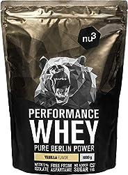 nu3 Performance Whey Protein - Vanille Flavor 1 kg eiwitpoeder - eiwitpoeder met goede oplosbaarheid - 22,5 g