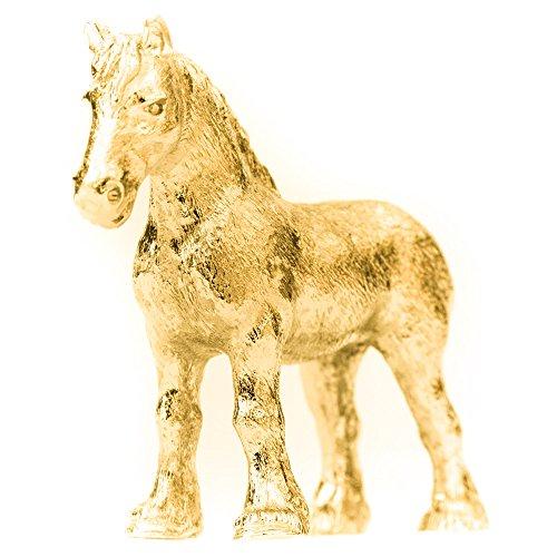Cavallo Shire Made in UK, Collezione Statuetta Artistici Stile animale (con la placcatura d