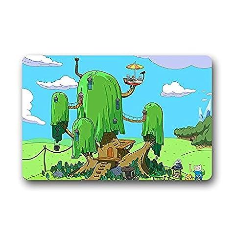 Shirley de porte Tapis Intérieur/extérieur de Finn et Jake Adventure Time Dos en caoutchouc antidérapant avant de porte d'entrée Doormat23.6X 39,9cm Décor Tapis moquettes