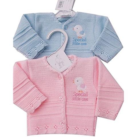 BNWT Baby Preemie prematuro ropa de rebeca de punto para Pato Rosa o Azul