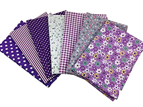 7Pcs Baumwollstoff Patchwork Stoffe DIY Gewebe Quadrate Baumwolltuch Stoffpaket zum Nähen mit vielfältiges Muster 50x50cm