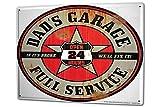 Blechschild XXL Garage Dad's Werkstatt komplett Service Tankstellen - Best Reviews Guide
