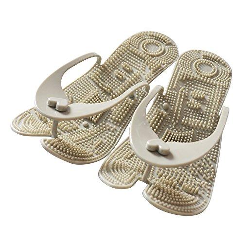 Meta-U Portable Foot Massaging Flip-Flops / Pantoufles / Sandales / Chaussures / Chaussures Pour Maison / Bureau / Hôtel / Voyage Gris