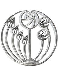 Heather Needham Silver Sterling Silver Rennie Mackintosh Brooch - Tulips design - SIZE: 36mm X 17mm 9107 Gift Boxed 9ogL8