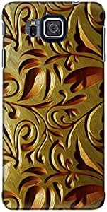 The Racoon Grip printed designer hard back mobile phone case cover for Samsung Galaxy Alpha. (gold weave)
