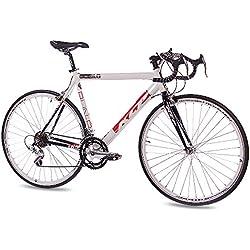 """28""""KCP Road Racing Bike Run 1.0aleación de 14velocidades Shimano Blanco Negro 56cm-(28cm)"""