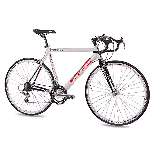 28 KCP ROAD RACING BIKE RUN 1 0 ALEACION DE 14 VELOCIDADES SHIMANO BLANCO NEGRO 56 CM   (28 CM)