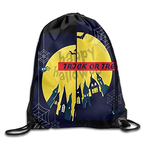 Liumiang Turnbeutel,Sporttaschen,Eco-Friendly Pirnt Trick Or Treat Halloween Spider Web Nylon Exotic Drawstring Summer Bags for Teens