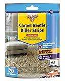 Stv International Zero in Bandes Anti-Insectes pour moquettes (20Bandes à détacher, Traitement Domestique à Sec, Tue Les anthrènes, Larves et œufs, Protection jusqu'à 6Mois).
