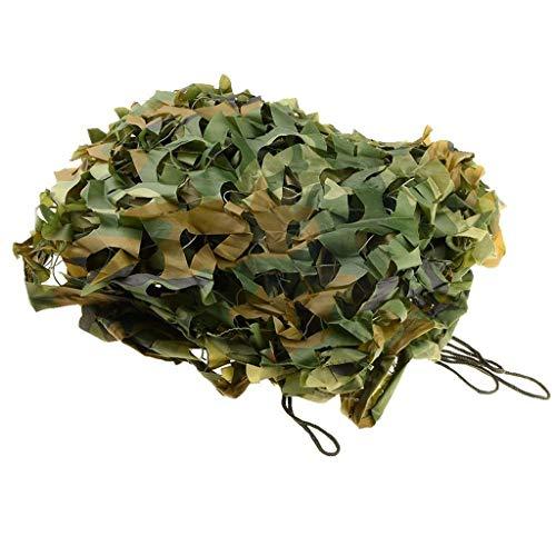 QDY-Voiles d'ombrage Grünes Tarnnetz Sunblock Shade Tuch Camouflage Net Sonnenschutz Depot für Woodland Camping Jagd Schießen Militär -