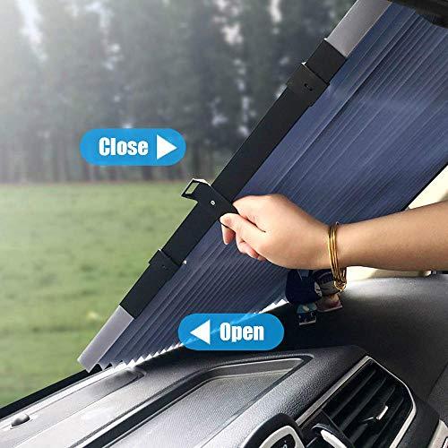 Parasol retráctil ventana coche aislamiento UV ventanillas