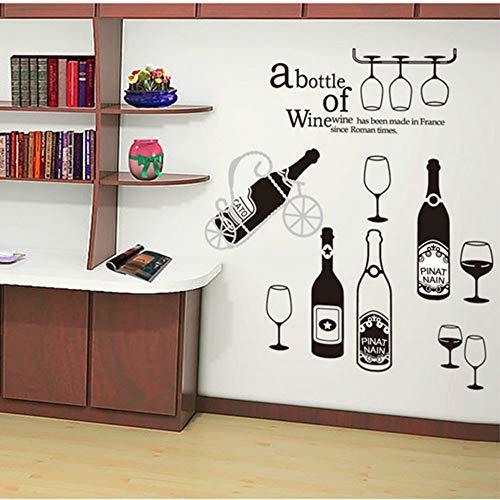 JYNX Rotwein Tasse Sommer Getränke Dekoration Tapete Bar, Kaffee und Milch Tee Shop, Restaurant Glas Schaufenster, 60X90 CM -