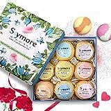 Skymore Bombas de Baño con Aceites Esenciales, Regalo de San Valentín, 9 Unidades, Aromaterapia de Baño Bolas, Aromas/Colores, 1er Pack (1 x 9 Unidades)