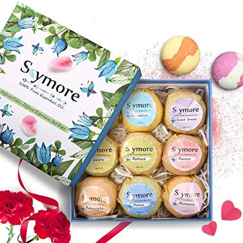 Bombe da Bagno Skymore, Confezione Regalo per San Valentino, Naturali a Mano, Ricche e Colorate, Aromaterapia, Idea regalo, donna Vegan