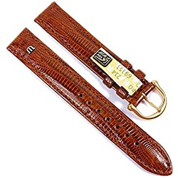 Maurice Lacroix Replacement Band Watch Band genuine Teju-lizard-Leather brown 21550G, width:18mm