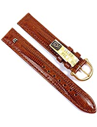 Maurice Lacroix Replacement Band Watch Band genuine Teju-lizard-Leather brown 21550G, width:20mm