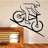 YXBB Adesivi murali Adesivi murali Decorazione della casa Decalcomanie in Vinile Decalcomanie da Mountain Bike per Terreni accidentati Gioco Adesivo da Parete in Vinile Fai da Te 42x66cm