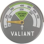 Valiant Magnetic Stove Thermometer, Aluminum, Green, 63mm