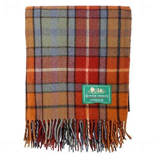 The Scotland Kilt Company Neu BNWT Schottische Überwurf Groß Wolle Tartan Teppich - Palette von Schottenkaros/Farben - Buchanan Antik, One size - Wolle Kilt
