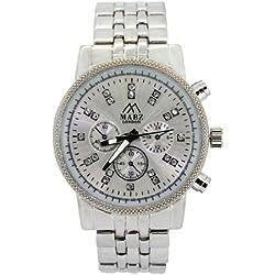 Mabz London Ladies Silver Dial & Silver Bracelet Fashion Watch