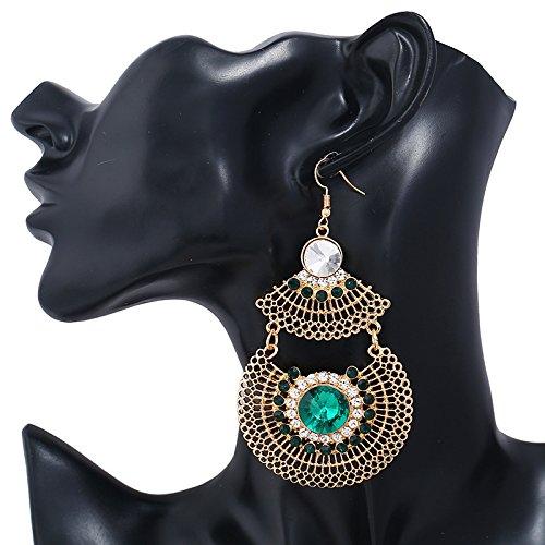 AI.NI Sapphire Ohr Schrauben Westböhmen Geometric-Shaped Sapphire Ohr Nagel Ohrringe, Bohrung Flansch + Weiß