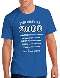 """Mens """"The Best of 2000"""" 18th Birthday T Shirt Gift, 100% Soft Cotton"""