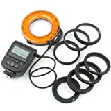 Meike MK-FC110 18LED Macro Flash Ring Light for Single contact Pentax Olympus Canon Nikon M4/3 and Sony E-mount Camera