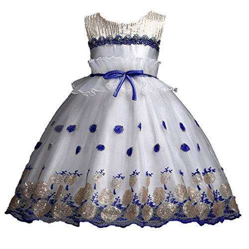 Trada Babybekleidung, Blumenmädchen Prinzessin Brautjungfer Festzug Lace Tutu Tüll Kleid Party...