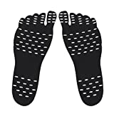 ROSENICE Klebesohlen, Barfuß Sohlen selbstklebende Einlegesohle Anti Rutsch unsichtbare Strand Schuhsohle Größe S (schwarz)