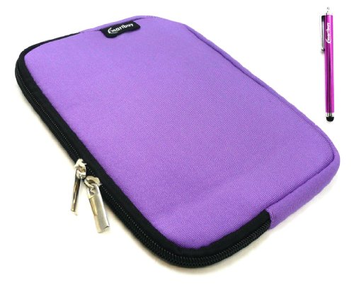 Emartbuy® Lila Stylus + Lila Wasser Resistant Neoprene Weich Zip Case Cover Tasche Hülle Sleeve Für I.onik TP - 1200QC 7.85 Inch Tablet (8 -Zoll-Tablet)