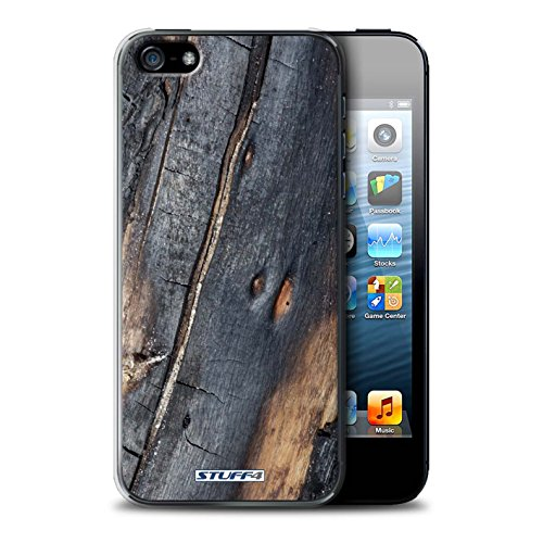 Stuff4 Hülle / Case für Apple iPhone 7 Plus / Moos/Feucht Muster / Baumrinde Kollektion Verbranntem Holz