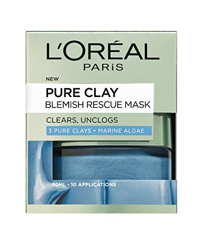 L'Oreal Paris Skin Expert Pure Clay Blemish Rescue Face Mask, 50 ml