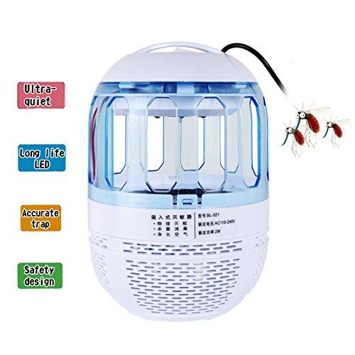 Airtana Lámpara Anti Mosquitos Mata Insectos Eléctrico, LED UV con Puerto de Carga USB