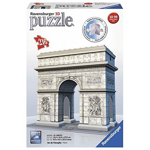 Ravensburger - 12514 - Puzzle - 3D - 216 Pièces - Arc de Triomphe