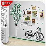Galleria fotografica X&L combinazione di 7 moda fresca e creativa di solido legno foto telaio casella biciclette albero corridoio bedroom...