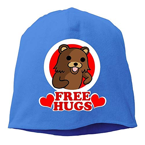 DHNKW Bear Free Hugs Beanies Caps Skull Hats Unisex Soft Cotton Warm Hedging Cap,One Size -