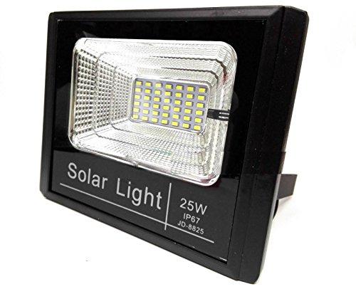 Bed Store® Faro faretto a led con pannello solare da esterno IP67 con telecomando con timer 10w 25w 40w 60w 100w 200w (25)