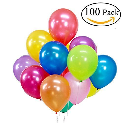 100 Stücke Luftballons Sortierte Farben Party Ballons für Hochzeits Geburtstagsfeier Weihnachten Halloween Fest (100 Bunte Luftballons, Bunt - Ballon Halloween Spiele