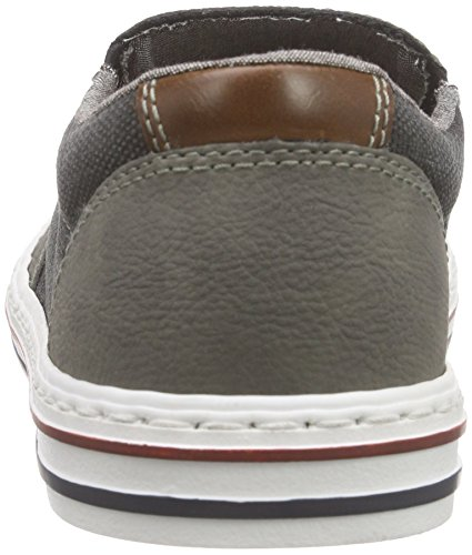 Rieker 19552 Loafers & Mocassins-men Herren Slipper Grau (cement/anthrazit/kastanie / 40)