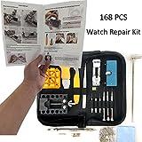HAOBAIMEI 168 PCS Watch Repair Kit Professional Spring Bar Tool Set,Watch Battery Replacement