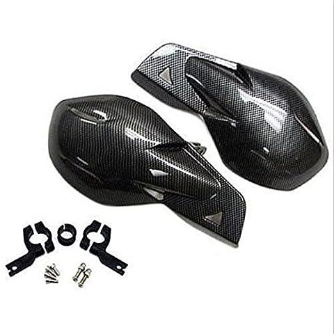 'League & Co universal par 7/8motocicleta Bicicletas Chopper Protector de protección mano orejeras para Honda Harley Yamaha MC MX (fibra de carbono)