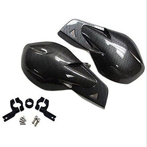 """LEAGUE&CO Universal Paar 7/8\"""" Motorrad Fahrräder Chopper Protektor Handschutz Handschützer für Honda Harley Yamaha MC MX (Kohlefaser)"""